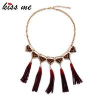 KISS ME Geometric Imitation Leather Necklaces & Pendants Personalized Bohemian Jewelry Women Necklace