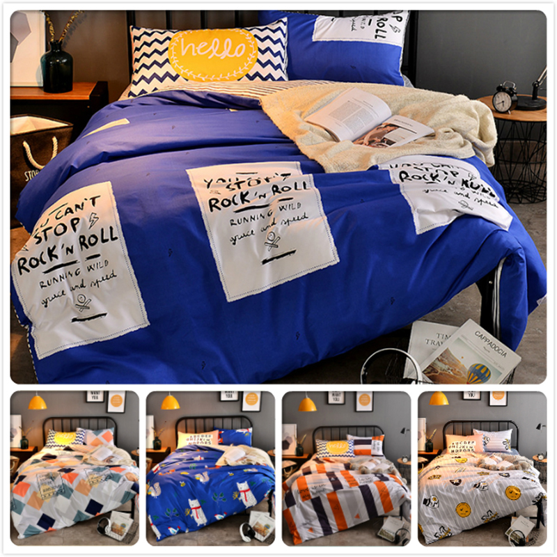Strict Creative Wisdom Words 3/4 Pcs Bedding Set Men Double Queen Queen King Full Size Duvet Cover 1.5m 1.8m 2.0m 2.2m Bedlinens 6 Feet For Fast Shipping Power Source