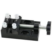 High quality aluminum alloy Mini bench vice vise, flat jaw clamp olive walnut electric grinder jig bed carving