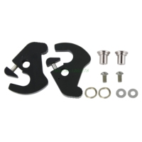 New Black H D Detachables Latch Kits For Harley Touring Sissy Bar Luggage Racks