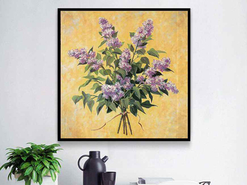 5D Square/round Diamond Embroidery Stitch Painting Hyacinthus Orientalis Flowers Artwork Handicraft Home Decor Picture By Number image