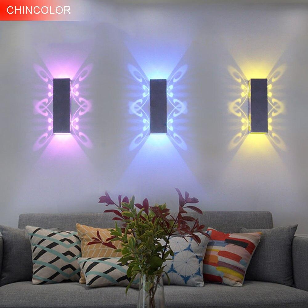 Aplique LED arriba / abajo de mariposa moderno AC85-265V 2W aplique - Iluminación interior