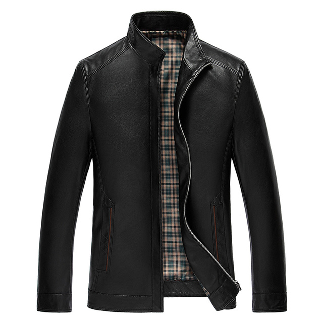 New Arrival Leather Jacket Men 2016 Fashion Jacket Leather PU Spring Autumn Winter Men Leather Jackets Solid Coat Plus Size