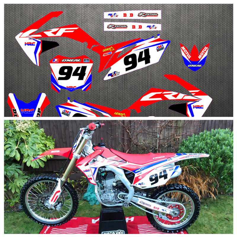 CRF250R 10 13 Free Customized Stickers Kit Full Graphic Background Sticker Decal for Honda CRF 250 CRF250 2010 2013 2011 2012-in Decals & Stickers from Automobiles & Motorcycles    1