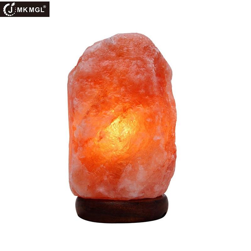 JMKMGL Himalaya Lampe De Sel Naturel Himilian Hymalain Rose Sel Lampes Sculpté À La Main Cristaux de Sel de Mer Night Light pour Purificateur D'air