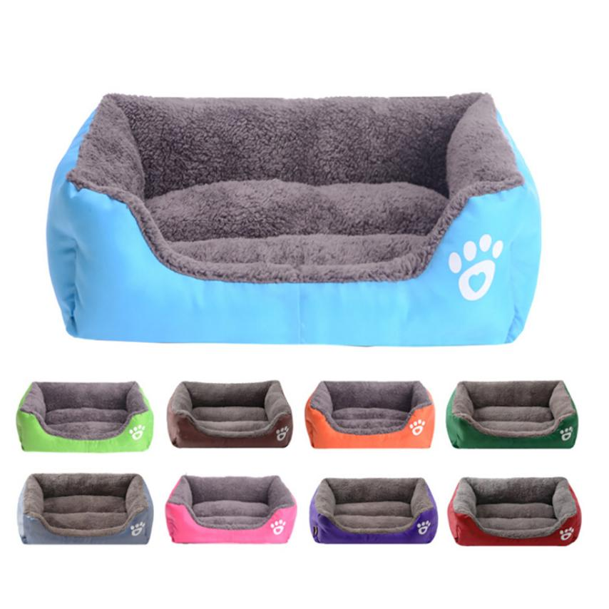 Transer New Hot Big Soft   Pet Dog Cat Bed Puppy Cushion House Soft Warm Kennel Dog Mat Blanket New Drop Shipping 18mar27