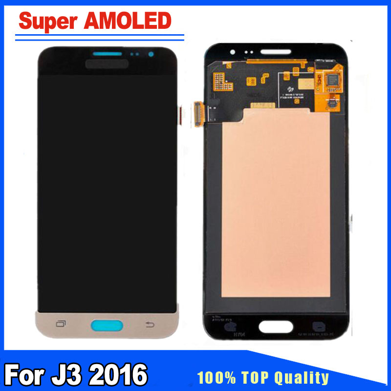 Super AMOLED Quality For Samsung Galaxy J3 2016 J320F J320H LCD Display Touch Screen Assembly With StickerSuper AMOLED Quality For Samsung Galaxy J3 2016 J320F J320H LCD Display Touch Screen Assembly With Sticker