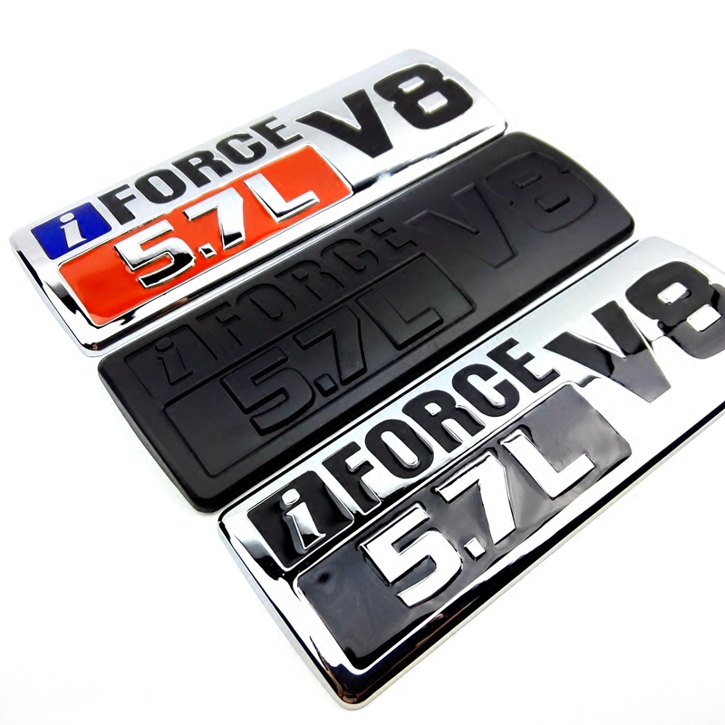 For Toyota Tundra SEQUOIA Land Cruiser Crossover Tacoma LC79 I FORCE 5.7L V8 Letter Car Emblem Fender Trim Tail Trunk Sticker