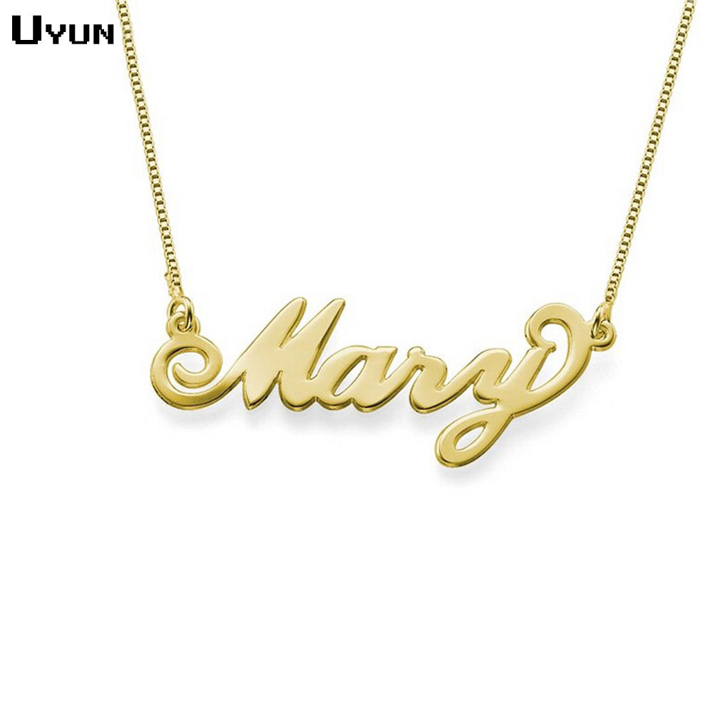 walmart gold necklace script s name personalized women ip kid com