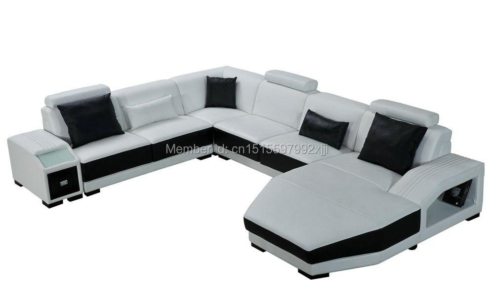 2016 секционная для гостиной современный дизайн кожаный диван Новое поступление; Лидер продаж; Большой размер мебель для дома u-образный geniun к... ...