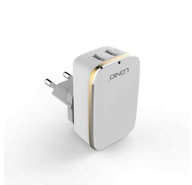 LDNIO A2204 الجدار شاحن 2 USB 2.4A شاحن الهاتف محول آيفون السفر الشواحن الذكية مع مايكرو كابل الاتحاد الأوروبي مقبس من الولايات المتحدة والمملكة المتحدة