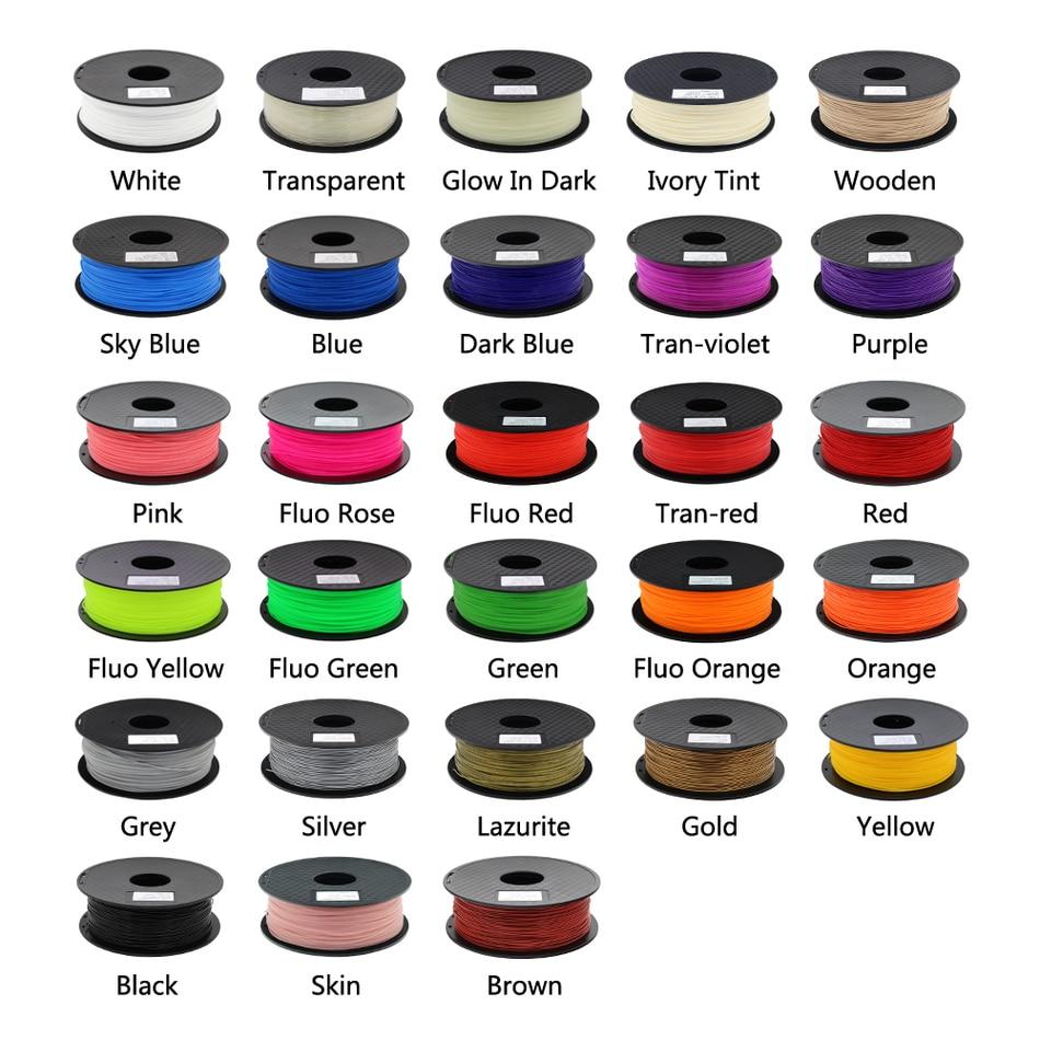 ZONESTAR Full Colors 3D printer Filament PLA Filament 1 75mm Consumables Material