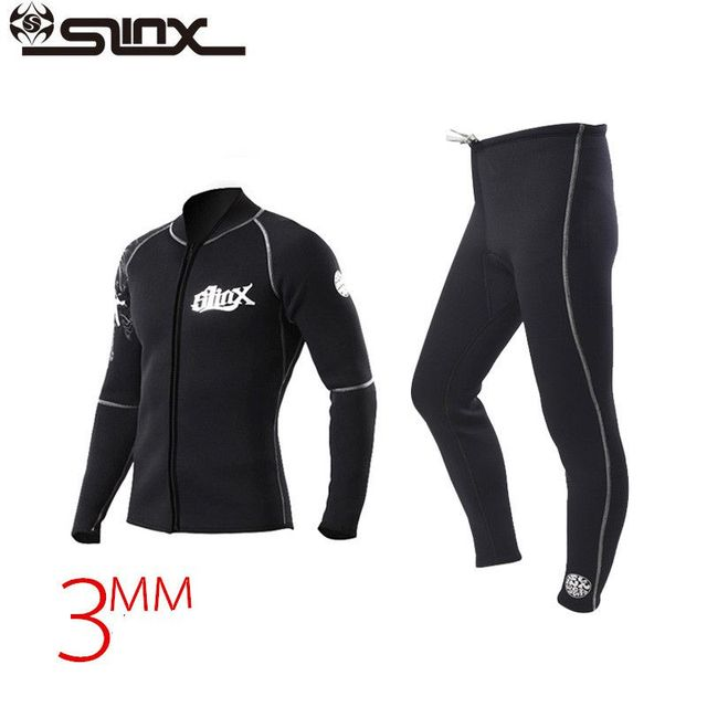 SLINX 3mm Neoprene Winter Warm Wetsuit Jacket Men's Rash Guard Scuba Diving Swimwear Kite Surfing Snorkeling Swimsuit
