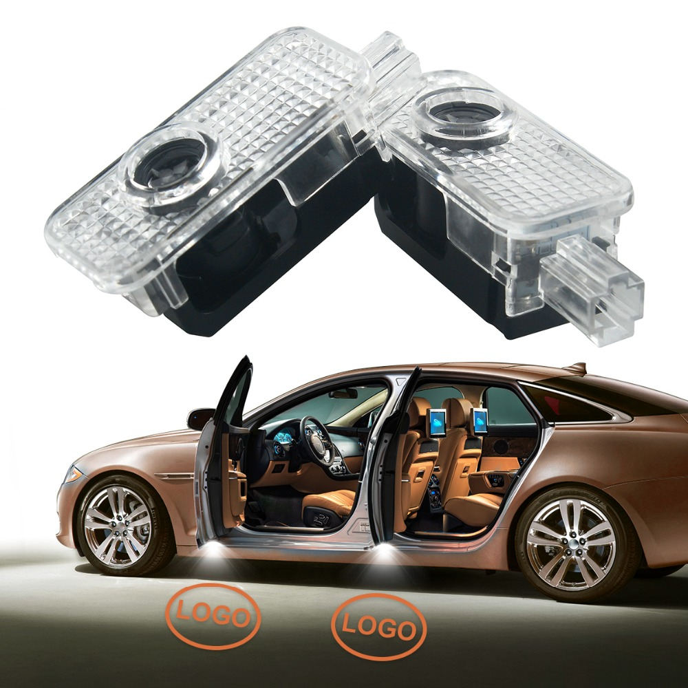 2X LED light car Door Courtesy Projector Shadow Light for AUDI A3 A4 B5 B6 B7 B8 A6 C5 C6 Q5 A5 TT Q7 A4L 80 A1 A7 R8 A6L Q3 A8L