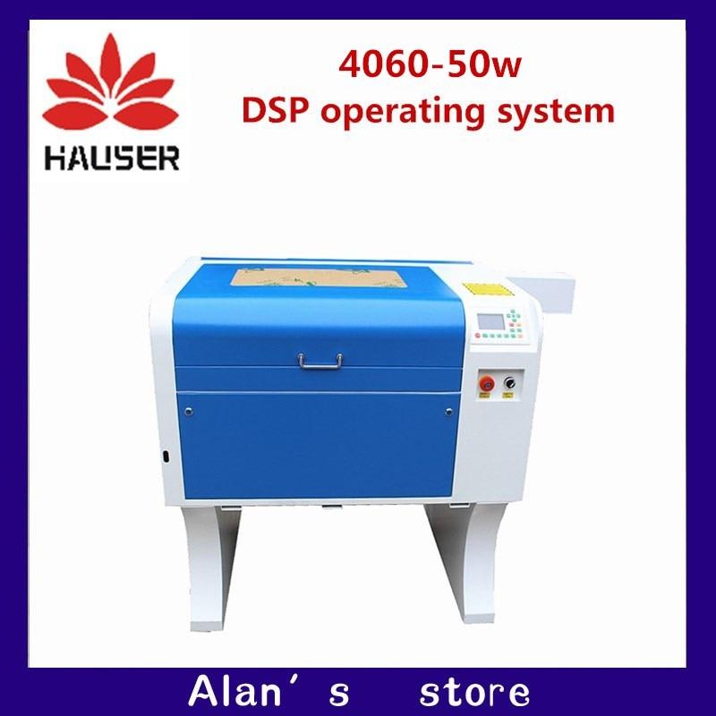 A HCZ 50 co2 a laser CNC 4060 W do laser máquina de marcação laser mini gravador cnc router gravura máquina de corte a laser cabeça diy