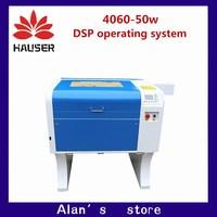 HCZ co2 เลเซอร์ CNC 50 W 4060 เลเซอร์แกะสลักเครื่องตัดเครื่องหมาย mini เลเซอร์ engraver cnc router เลเซอร์ diy