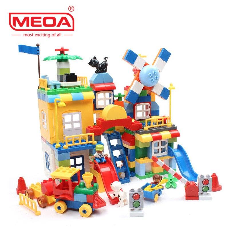 200 Sztuk Duże Cegły City Plac Zabaw Kreatywne Cegły Zabawki