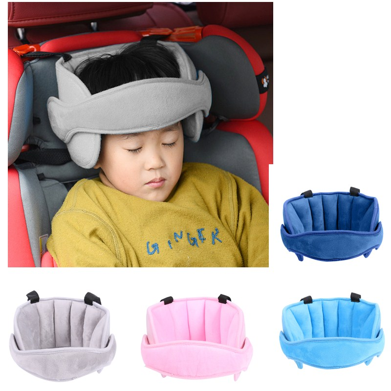 Baby Child Pillows Safety Car Seat Sleep Nap Aid Head Support Holder Band Children Head Protection Sleeping Headrest Pillow Car image