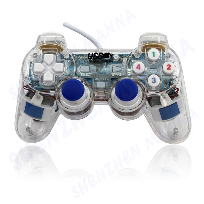 2016 Hot Sale New Transparent Usb Controller2 0 Pc Vibration
