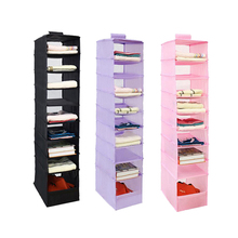 9 Cell Hanging Box Clothing Storage Mails Door Wall Closet Organizadores Bag