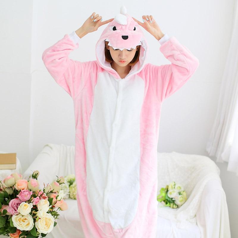 2017 Family Pajamas Onesie For Women Kids Pink Dinosaur Pijamas Winter Flannel Sleepwear Sell On Chinese-market-online TC025