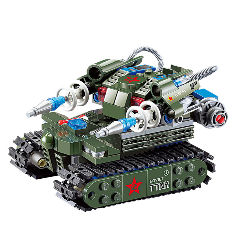 262Pcs/Set DIY Assemble Military Tank Toy Cool Magnetic Kids Handwork Energy Tank Building Blocks Bricks brinquedo Toys Gifts 6726 toy building blocks minifigures gift for kids police station on the sea building bricks kit assemble set susen go brand