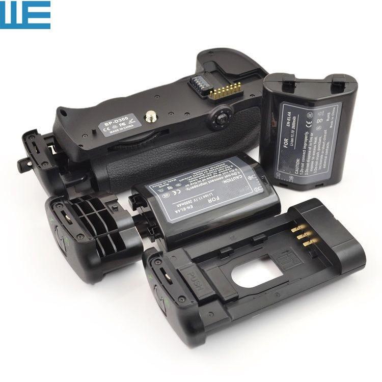 MB-D10 Battery Grip + 2X EN-EL4 EN-EL4A Batteries + BL-3 Battery Chamber Cover For Nikon D300 D300s D700 SLR Cameras.