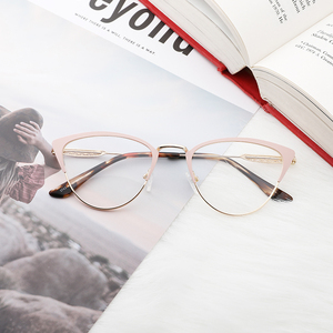 Image 5 - אצטט נשים משקפיים מסגרת משקפיים שקוף עדשת רטרו גבירותיי חתול עין משקפיים קוצר ראיה בציר משקפיים מסגרת # 3743