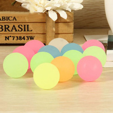 10 Pcs Novelty High Bounce Rubber Ball Luminous Small Bouncy