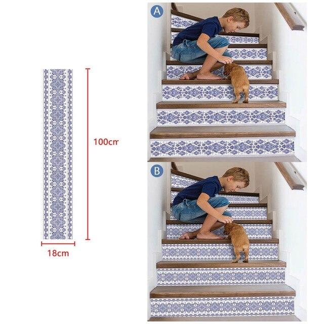 3D sztuczna na schody naklejki wodoodporna ściana naklejki dekoracje dla domu DIY dekoracja pokoju vinilos decorativos para paredes nowy