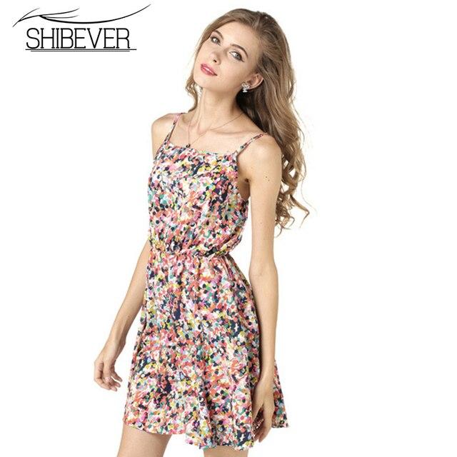 Shibever chiffon strand dress dot muster plus beiläufige mini kurze ...
