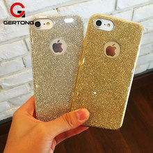 GerTong PC & PE และ TPU Shinning กรณีสำหรับ iPhone X 8 7 6 6 S Plus 5S 5 S SE Glitter Bling สำหรับ iPhone 8 7 6 6 S Plus(China)