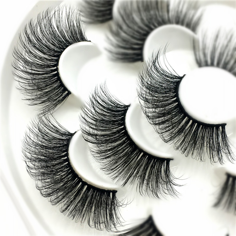 Image 3 - SEXYSHEEP 3/7pairs 25mm 8D Mink Lashes Natural Long False Eyelashes Volume Fake Lashes Makeup Extension Eyelashes maquiagem-in False Eyelashes from Beauty & Health