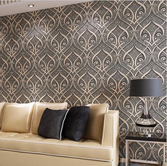 Creative patterns Textures Wallpaper For Wall Embossed Flocking ...