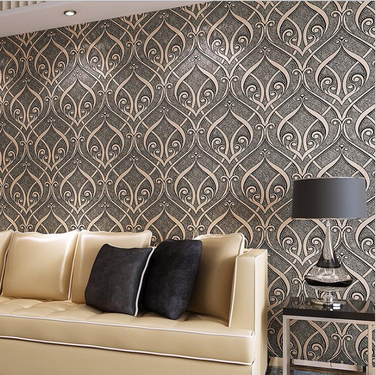 Creative Patterns Textures Wallpaper For Wall Embossed Flocking Designs  Modern Living Room Home Decoration Wall Paper