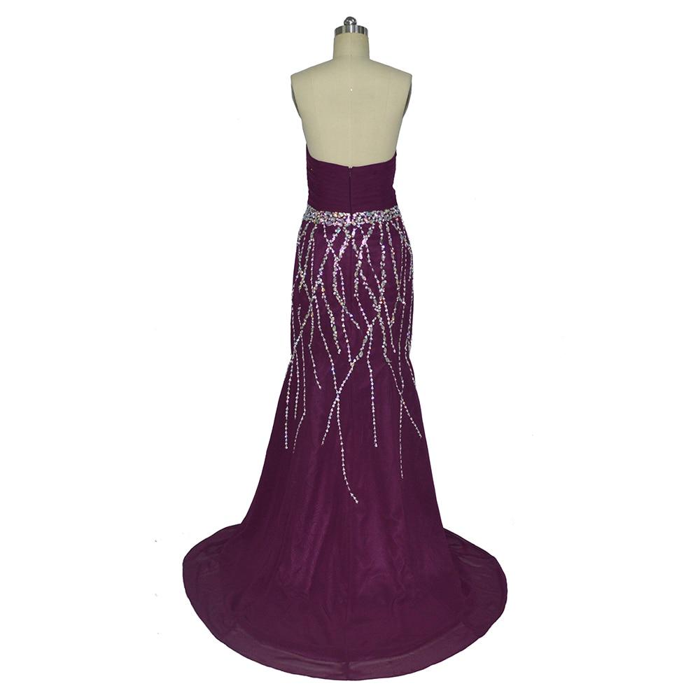 Fantastische nieuw ontworpen lieverd zeemeermin paarse prom dresses - Jurken voor bijzondere gelegenheden - Foto 3
