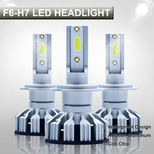 2PCS Mini Size H7 Led Canbus 72W 10000LM Car headlight Bulb H4 LED H1 H8 H11 9005 HB3 9006 HB4 LEDs 6000K 12V Auto Lamps