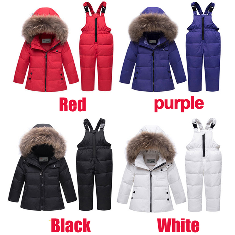 93f1226fc9be 2018 New Winter Baby Boys Girls Duck Down Snowsuits Jacket Children ...