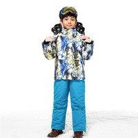 Children Boy Winter Warm And Thicken Clothing Set Teenager Ski Suit Windproof Outdoor Ski Jackets Bib