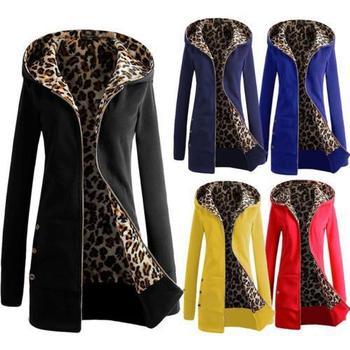Womens Long Sleeve Fleece Hoodie Coat Plus Size