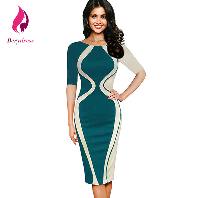 Y Club Wear Pencil Dress With Half Sleeves Wedding Tail Party Bodycon Patchwork Vestidos Modest Women