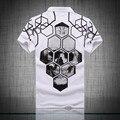 True reveler pp men skull polo shirt luxury brand clothing short sleeve 100% cotton polo shirt Asia size 5612