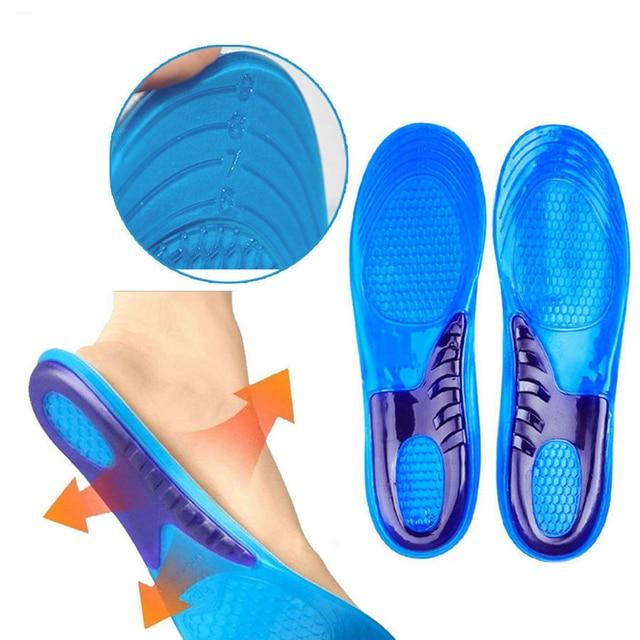 Nuevo 1 par de plantillas de Gel Unisex para calzado deportivo con arco ortopédico con plantillas de apoyo para masajear el alivio del dolor plantillas para el cuidado de los pies herramienta