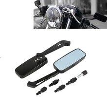 오토바이 후방용 사이드 미러 8mm 및 10mm, 일반 또는 스포츠 바이크용 차퍼 또는 크루저, 할리 데이비스, 혼다, 야마하, 가와사키 등 범용