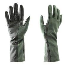 Военные тактические перчатки, кожаные тактические перчатки Nomex, тактические перчатки пилота(OD Green BK