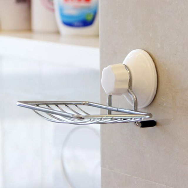 Quickdone 1Pcs Wall Mounted Soap Holder Dish Bathroom Accessories Soap  Shelf Storage Rack Basket New