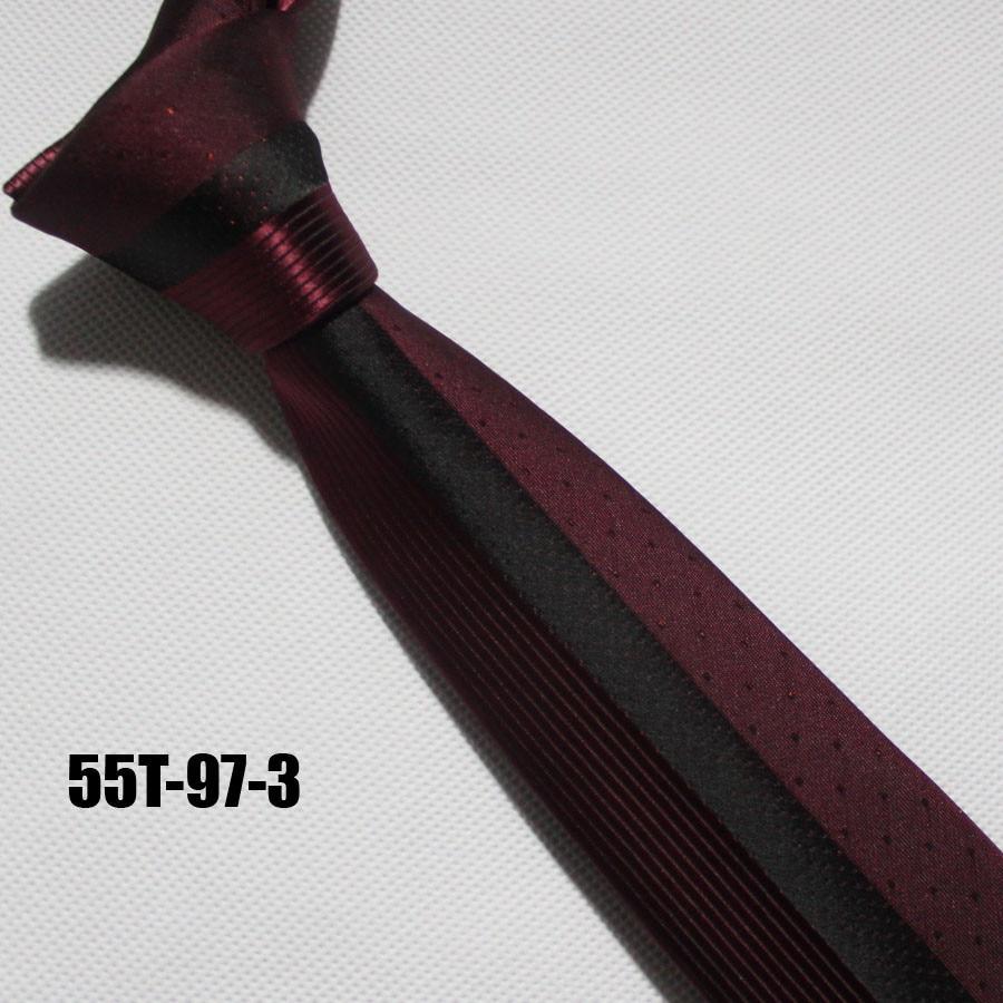 Lingyao дизайнерский галстук на панель, отличное качество, тканый галстук для жениха, свадебный красный с черными полосками и точками в подарочной коробке