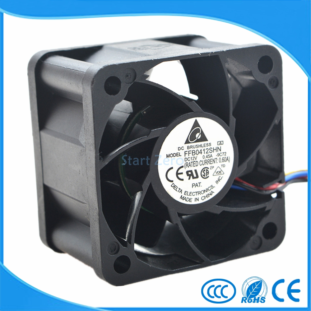 New Delta FFB0412SHN 4028 4CM 12V 0.45A PWM Temperature Control 40*40*28mm 4wirecooling Fan