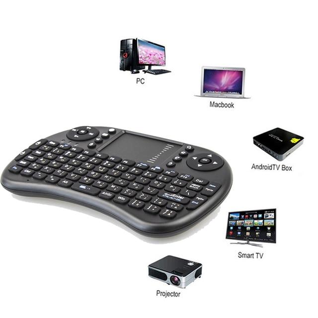 2.4GHz Wireless Keyboard Original i8 Hebrew Arabic English Russian Spanish Italian Touchpad Handheld for Android TV BOX Mini PC