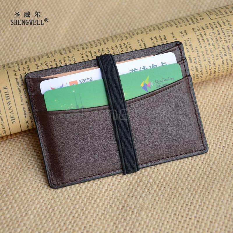 Creditcardhouder Heren Portemonnee Ultra slank Echt rundleder kaarten - Portemonnees en portefeuilles